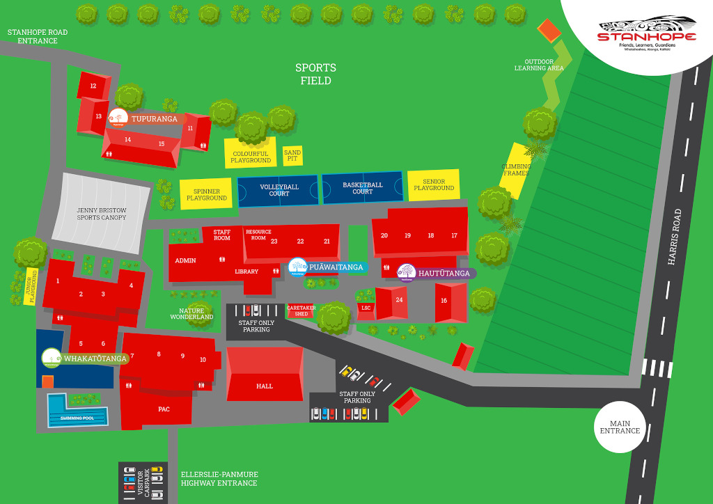 School Map, Stanhope Road School